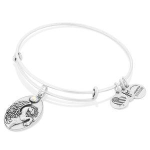 Alex and Ani Pegasus Bracelet in Antique Silver